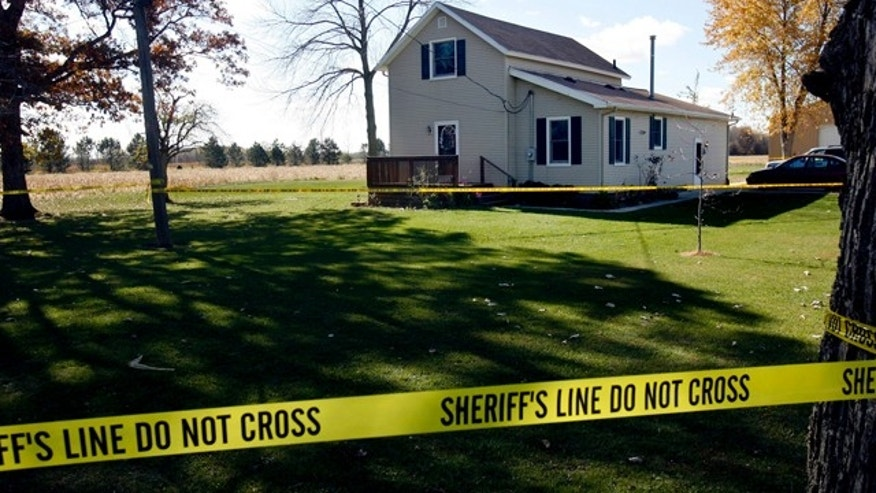 Nov. 1: A family home is seen in Martin, Ohio. Authorities are investigating three murders at the William and Sue Liske home.