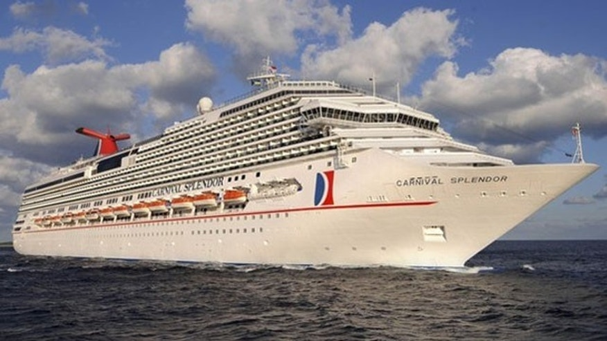 The Carnival Splendor cruises at sea in the Bahamas in this undated handout image released by Carnival Cruise Lines.