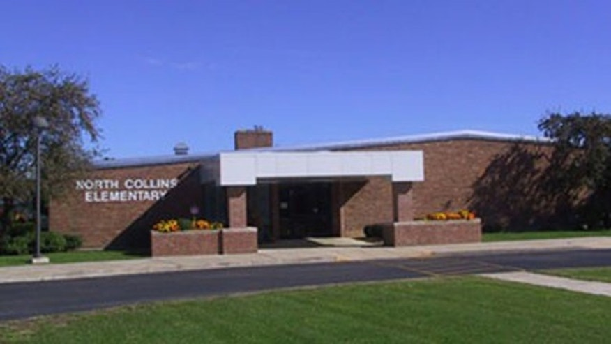 "The superintendent of North Collins Central School District told FoxNews.com that North Collins Elementary School will continue announcing the first six words of the pledge -- ""I pledge allegiance to the flag"" -- and then let students continue at their own pace.  (North Collins Elementary School)"
