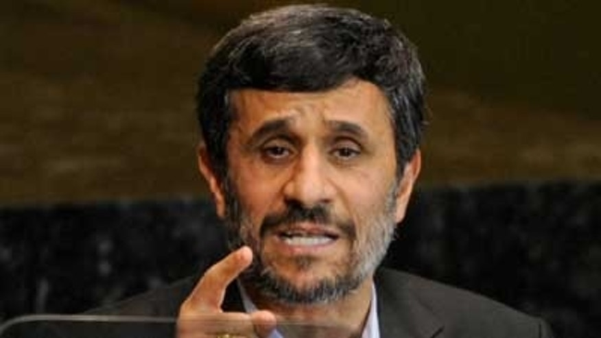 File: Iranian President Mahmoud Ahmadinejad speaks at the United Nations (AP).