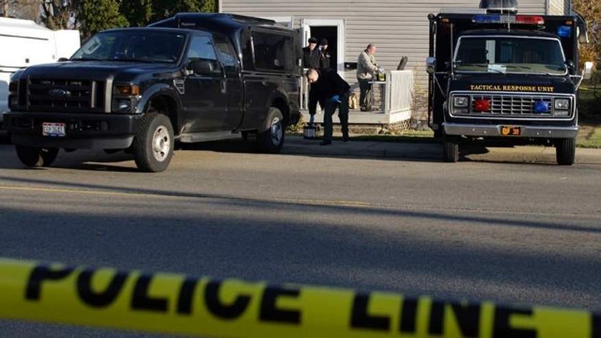 Nov. 14: Knox County sheriff's deputies and investigators from the Bureau of Criminal Identification and Investigation process evidence at the residence of 30-year-old Matthew Hoffman, who has been arrested for kidnapping in Mount Vernon, Ohio.