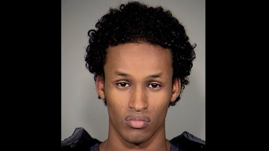 This image provided by the Mauthnomah County Sheriff's Office shows Mohamed Osman Mohamud, 19, arrested and charged with attempted use of a weapon of mass destruction.