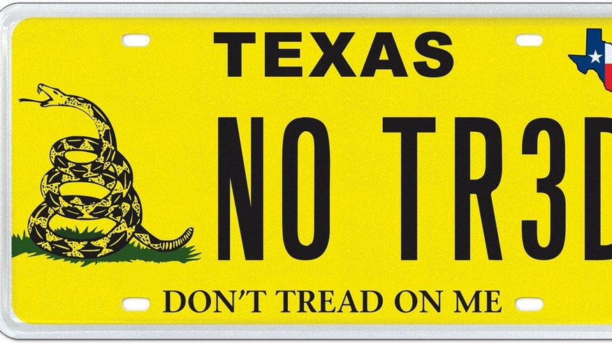 Texas Gadsden 'Don't Tread on Me' license plate