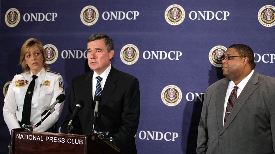 Nov. 30: Director of National Drug Control Policy Gil Kerlikowske, center, talks about drugged driving, accompanied by Washington Police Chief Cathy Lanier, left, and National Highway Traffic Safety Administration Administrator David Strickland, at the National Press Club in Washington, D.C.