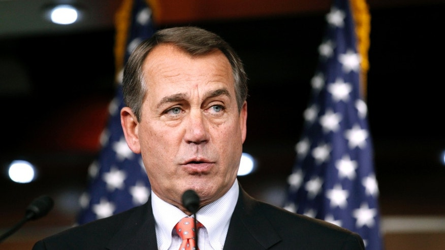 Dec. 2: Future House Speaker John Boehner of Ohio speaks at a news conference on Capitol Hill in Washington.
