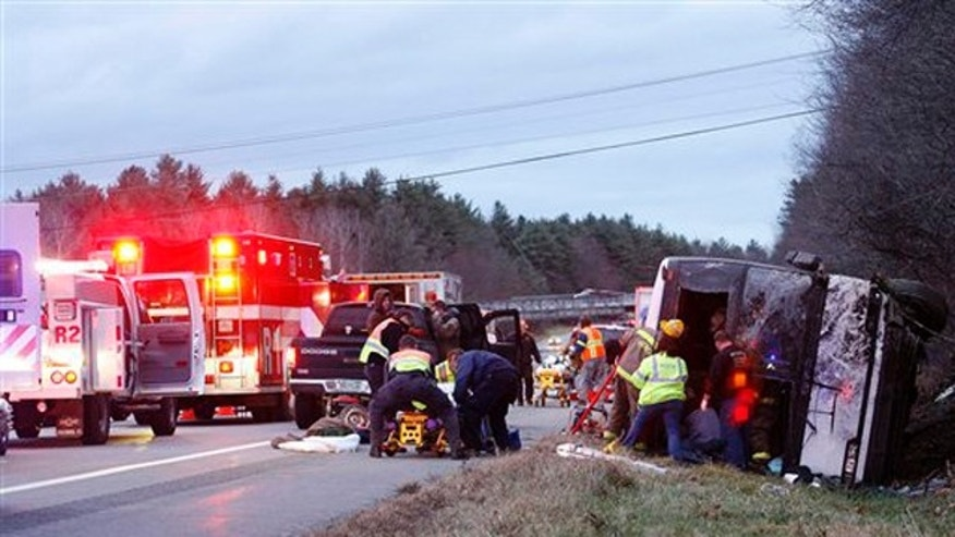 Some college students from UMASS were injured when their bus crashed