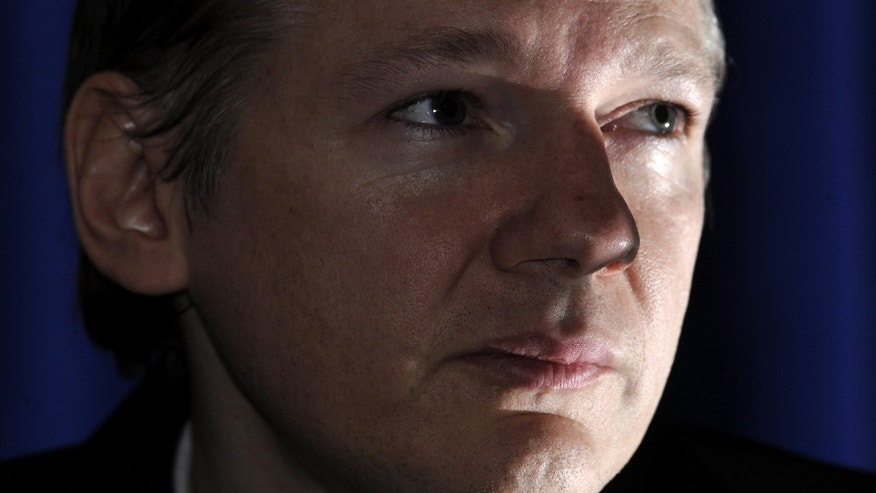 Oct. 23: WikiLeaks founder Julian Assange speaks during a news conference in London.