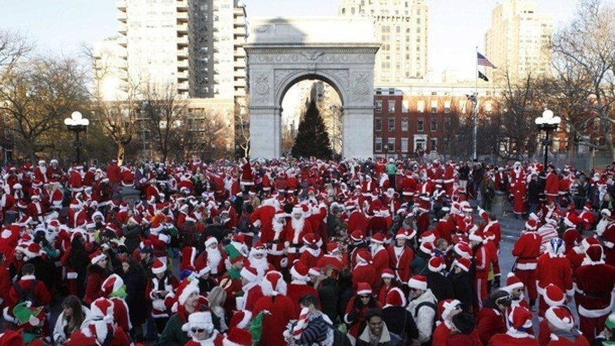 SantaCon: Holiday revelers gathered in cities across the nation dressed en masse as jolly ol' St. Nick.