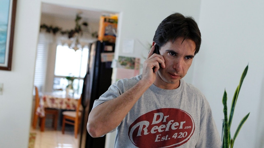 Dec. 9: Pierre Werner answers a phone call concerning his business license which was revoked at his mother's home in Las Vegas. Werner's medical marijuana referral business was shut down by authorities.