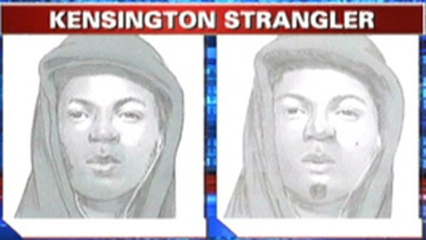 Sketch of Kensington Strangler suspect in Philadelphia.