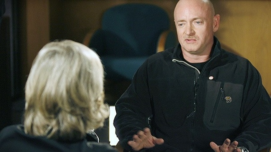 Jan. 15: NASA astronaut Capt. Mark Kelly talks with ABC's Diane Sawyer in Tucson.