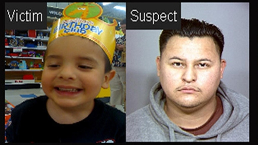 Jose Esteban Rodriguez, right, allegedly abducted 4-year-old Juliani Cardenas, left, while he was with his grandmother on Jan. 18. (MyFoxLA.com)