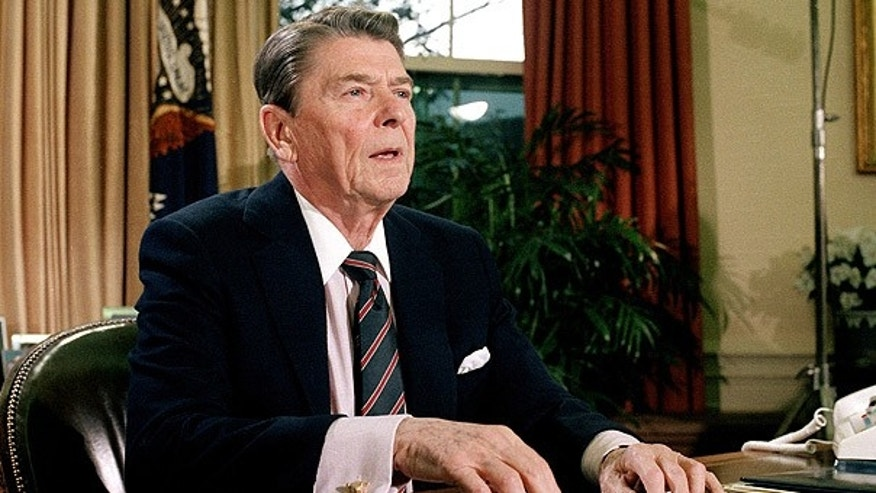 Jan. 28, 1986: President Ronald Reagan in the Oval Office after a televised address to the nation about the space shuttle Challenger explosion.