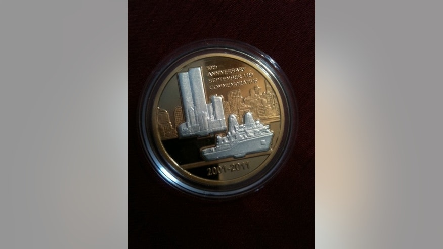 Front view of 9/11 coin.