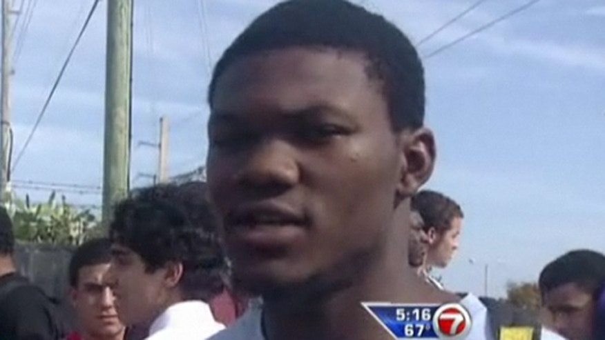 Bryan Delancy, pictured above, and two of his teammates are suing the FHSAA, arguing that the constitutional right to an education should include sports (wsvn.com).