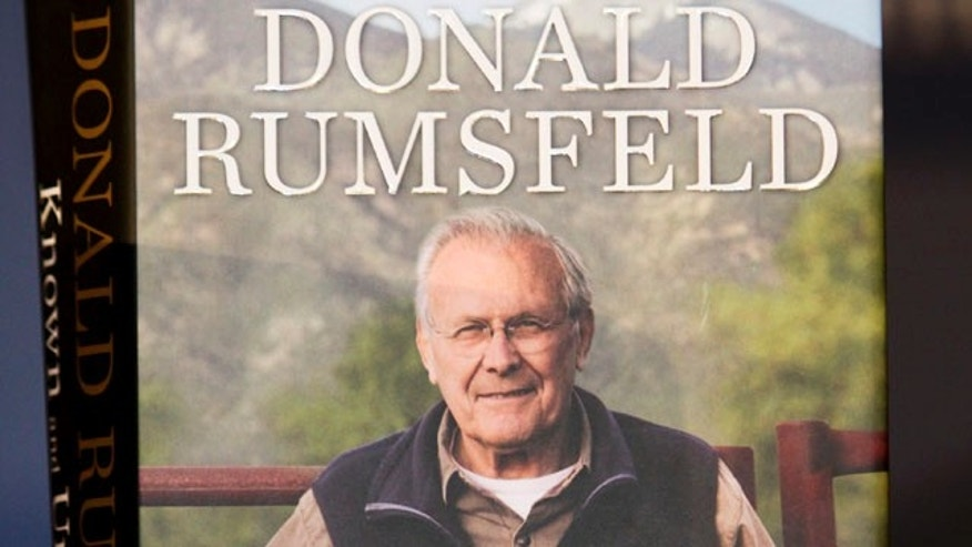 "Feb. 9: A copy of former U.S. Secretary of Defense Donald Rumsfeld's book, ""Known and Unknown"" is shown, during an event at the National Constitution Center in Philadelphia."