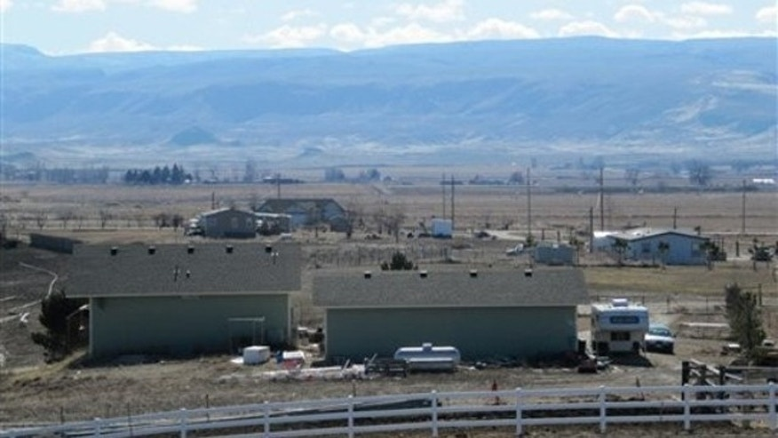 Feb. 9: The backside of the home outside Marsing, Idaho, where federal agents caught up with Enrico Ponzo for trying to kill a New England mob boss more than a decade ago (AP).