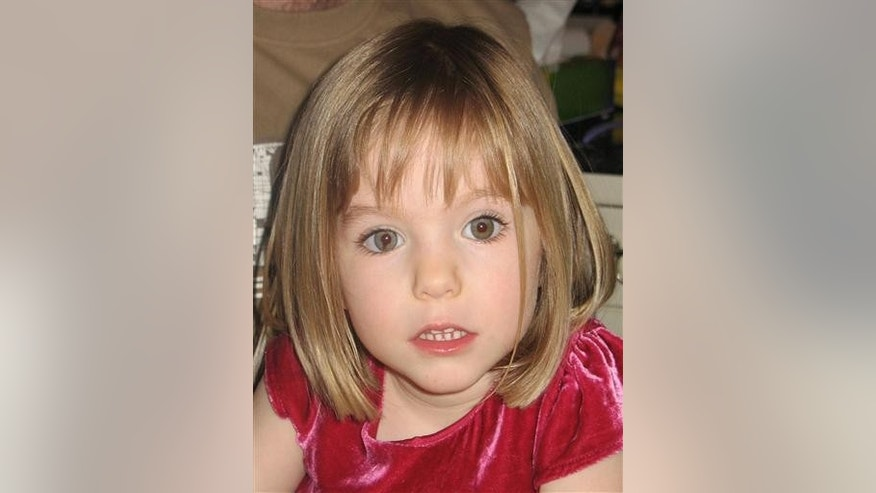 Undated handout photo of missing Madeleine McCann.