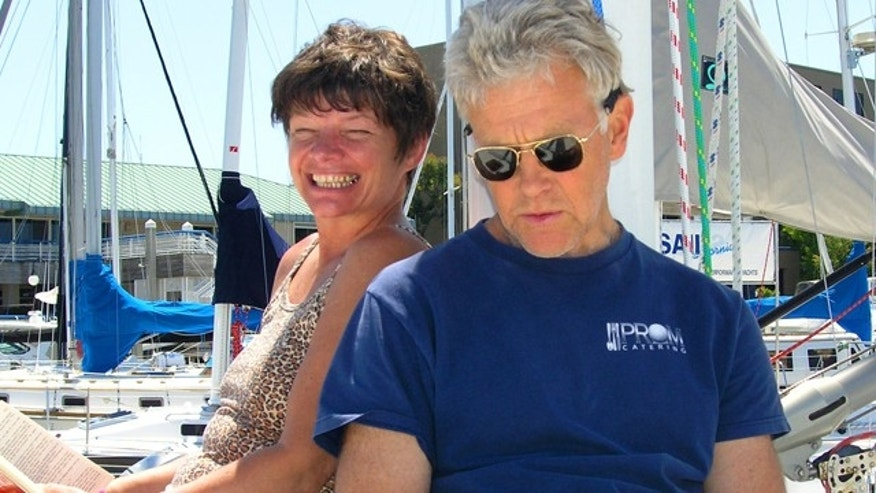 Phyllis Macay and Bob Riggle are seen on a yacht in Bodega Bay, Calif., in this 2005 photo. (AP)
