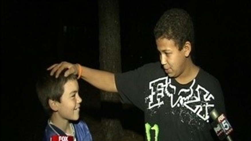 13-year-old Jordan Marankie rescued from collapsed trench in Georgia by 12-year-old friend Brandon Biro.
