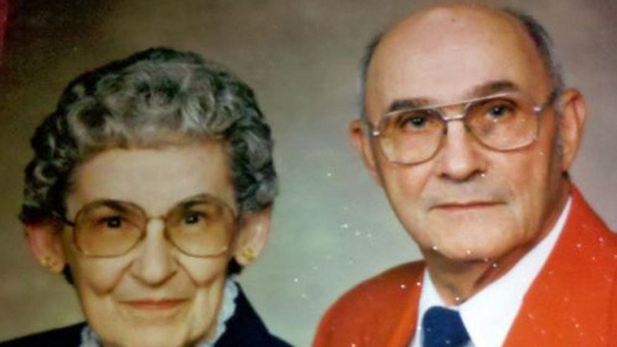 This undated picture released by the FBI shows 84-year-old Richard Russell and his 85-year-old wife, Gladis.