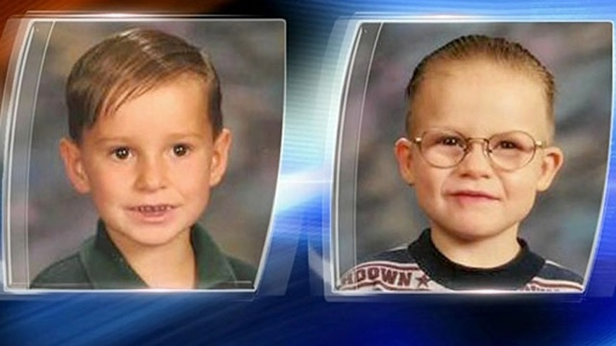Austin Eugene Bryant and Edward Dylan Bryant, seen here when they were 7 and 9-years-old, have been missing for at least a decade, authorities say.