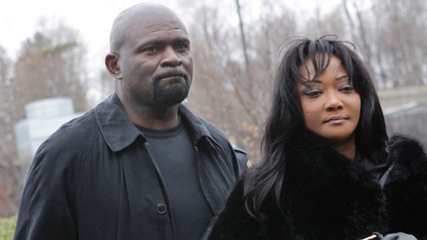 March 22: Former New York Giants football star Lawrence Taylor arrives with his wife, Lynette Taylor, at the Rockland County Courthouse for his formal sentencing in New City, N.Y.