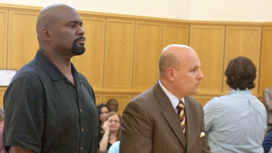 May 6: Former New York Giants linebacker and Pro Football Hall of Famer Lawrence Taylor, left, and his attorney, Arthur Aidala, listen to proceedings during Taylor's arraignment at Ramapo Town Court in Suffern, N.Y. (AP)