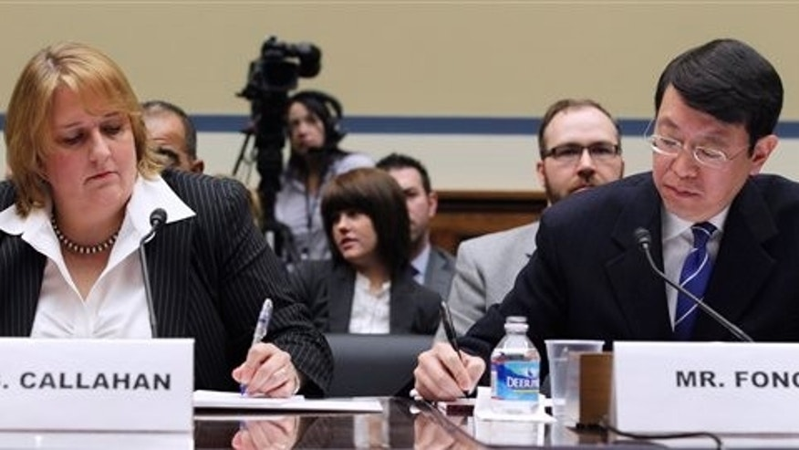 March 31: Homeland Security Chief Privacy Office Mary Ellen Callahan and General Counsel Ivan Fong on Capitol Hill in Washington, while testifying at a hearing on the Freedom of Information Act.