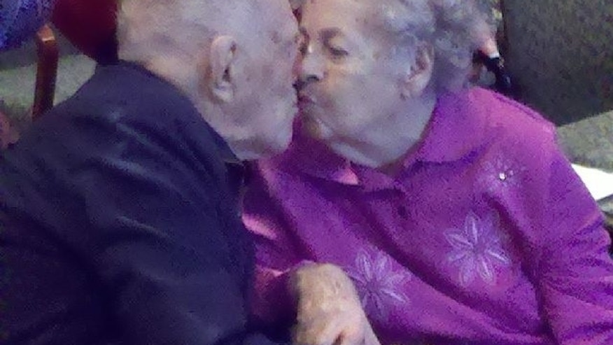 "97-year-old Everett ""Pops"" Potterman had one last wish: to finally give his wife Betty of 65 years an engagement ring."
