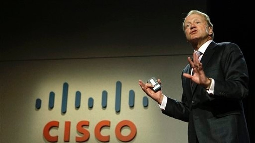 CEO of Cisco Systems Inc., John Chambers. Cisco rose 4 percent, the most of any stock in the Standard & Poor's 500 index.