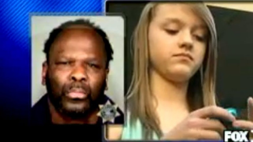 Left: Douglas Quinn mugshot. Right: 13-year-old Shelby Harrington who was apparently harrassed by Quinn.