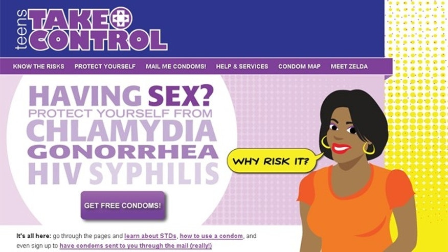 "The website, which instructs visitors to use condoms ""each and every time,"" provides an interface where users can request free male condoms mailed directly to their doorstep. (TakeControlPhilly.org)"