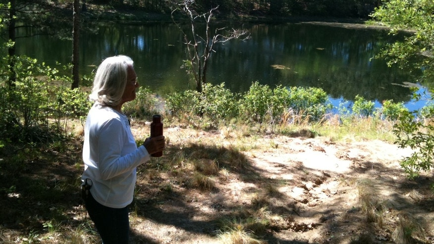 Texas homeowner, Eleanor Fairchild, looks out over her property that may be disrupted by an undergroup pipeline.