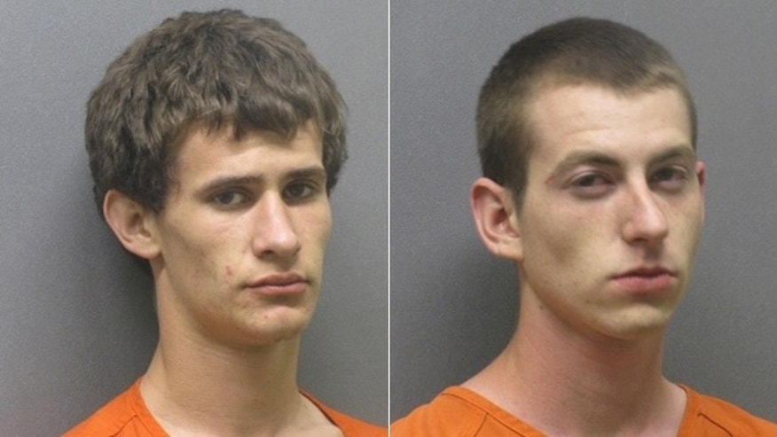 From the left, Tanner Baker and Brandon Cotton, both 18, were charged with capital murder and if convicted, can face the death penalty.