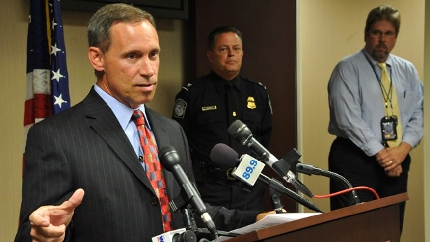 May 4: James Casey, Special Agent in Charge of the Jacksonville office of the FBI, talks during a news conference in Jacksonville, Fla.