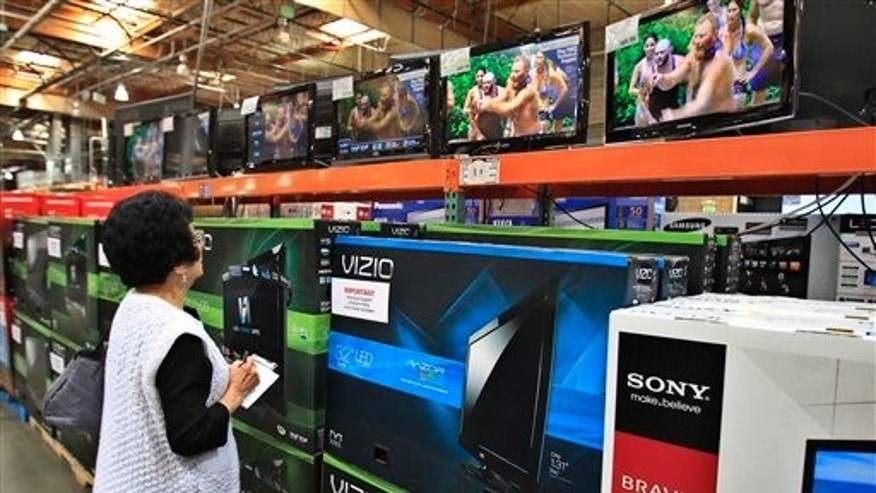 April 23: A shopper looks at televisions at Costco in Mountain View, California.