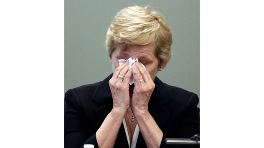 May 18: Brenda Kerrigan, wife of Daniel Kerrigan, testifies for the defense during her son Mark Kerrigan's trial at Middlesex District Court, in Woburn, Mass.