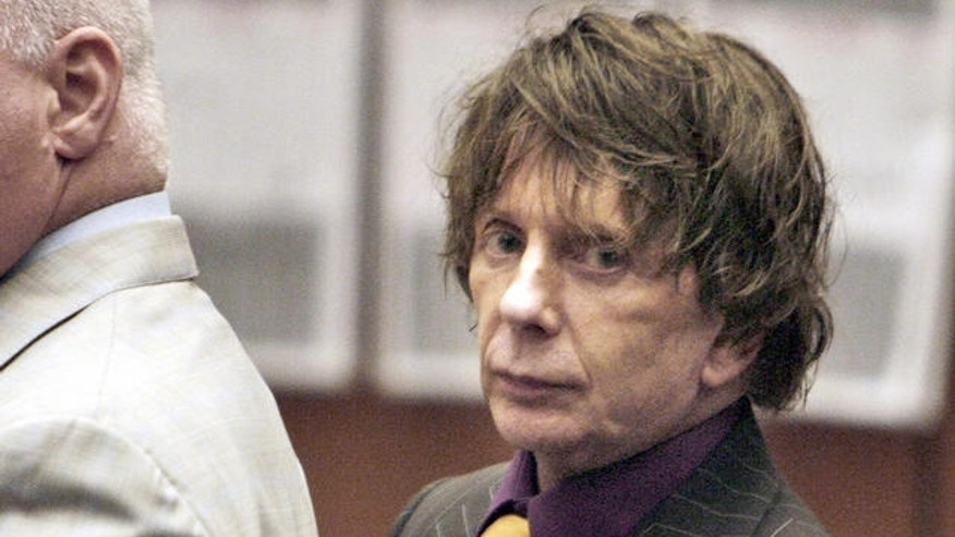 Aug 2007: Phil Spector during his murder trial in Los Angeles, CA.