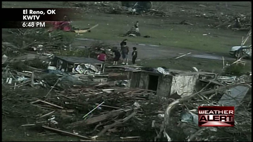 Tornado damage in El Reno, Okla. (KWTV/Fox News)