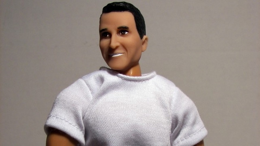 "June 14: This photo released by HeroBuilders.com shows a doll in the likeness of Rep. Anthony Weiner being sold by the Oxford, Conn., company. The online action figure company has jumped on the Weiner sexting scandal with a doll of the U.S. congressman in two versions: censored and uncensored. The ""standard"" doll, shown, for $39.95 and the anatomically correct ""for adults only"" version for an extra $10. (AP/HeroBuilders.com)"