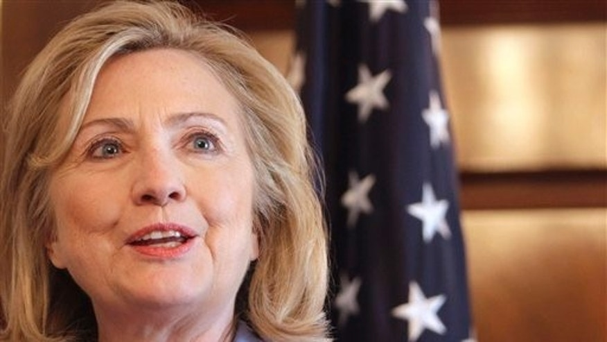 June 24: Secretary of State Hillary Rodham Clinton speaking in Iraq. Clinton cautioned Syria about its massing of troops along its border with Turkey, warning the Syrian government such a build up could lead to armed conflict.