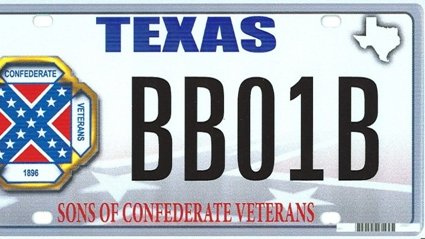 The Texas Sons of Confederate Veterans designed the plate, which has not yet been approved, to remember those who died fighting in the Civil War.