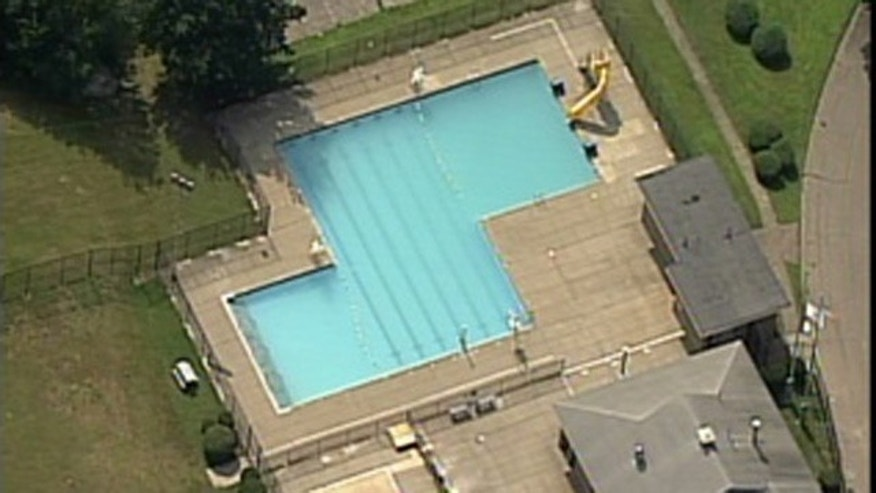 An aerial view of the Vietnam Vereran's Swimming Pool where authorities may have discovered the body of a woman days after she died.
