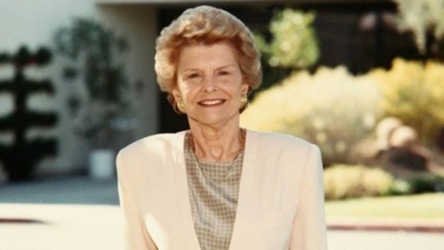 Betty Ford, chairman and co-founder of the Betty Ford Center since 1982, is shown at the center in Rancho Mirage, California. Mrs. Ford died on July 8.