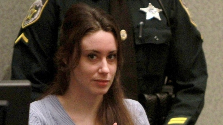 July 7: Casey Anthony sits in court during sentencing at her murder trial in Orlando, Florida.