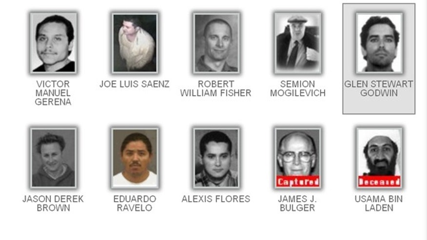 "The above image is the FBI's current ""Ten Most Wanted"" list."