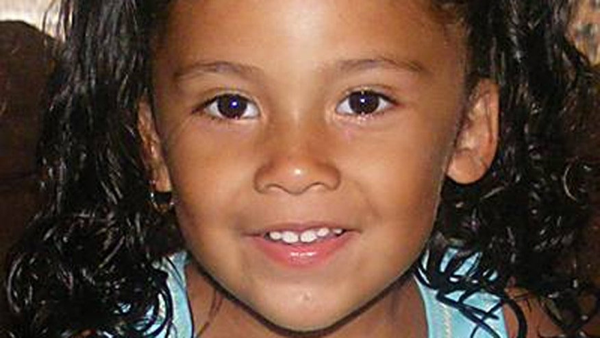 This image, provided by the National Center for Missing & Exploited Children, shows 3-year-old BreeAnn Rodriguez. The girl was last seen on Saturday riding her bike near her Senath, Mo., home.