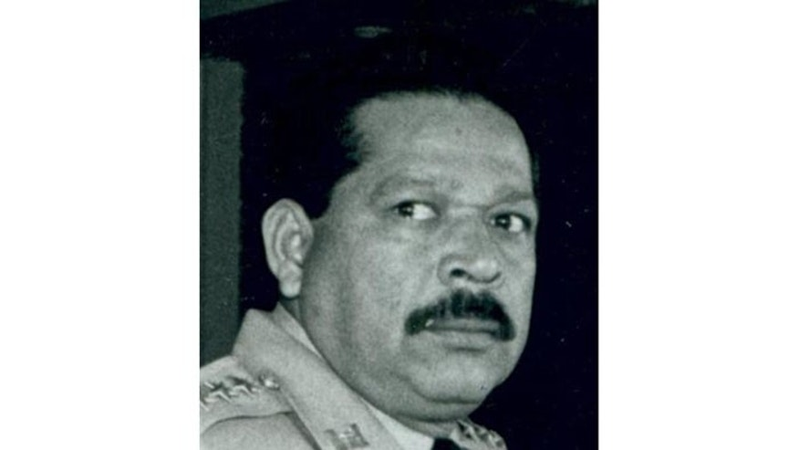 This undated photograph provided by La Prensa Grafica newspaper shows former Salvadoran official Inocente Orlando Montano in San Salvador, El Salvador.