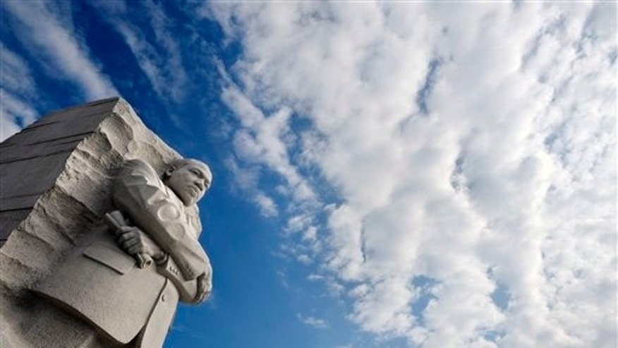 August 26: Clouds gather over the Martin Luther King, Jr. Memorial in Washington, D.C.